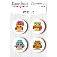 Flair buttons. Set of 4pcs #115