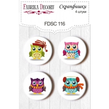 Flair buttons. Set of 4pcs #116
