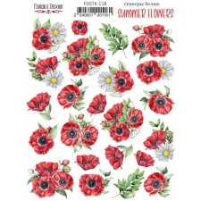 """Kit of stickers #118, """"Summer Flowers"""""""