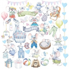 "Decorative sheet for cutting ""My Little Mousy Boy"""
