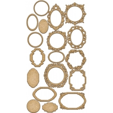 Set of mdf elements for decorating #139