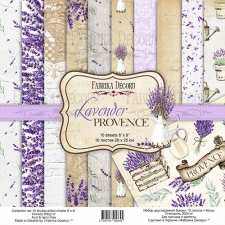 "Double-sided scrapbooking paper set ""Lavender Provence"", 8""x 8"" , Fabrika Decoru"