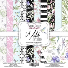 "Double-sided scrapbooking paper set ""Wild orchid"", 12""x 12"" , Fabrika Decoru"