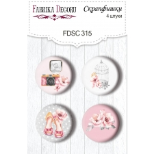 "Flair buttons.  Set of 4pcs #315 ""Say Yes"""