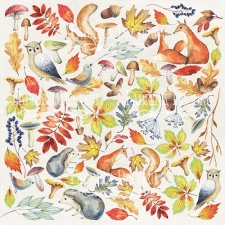 "Decorative sheet for cutting ""Colors of Autumn"""