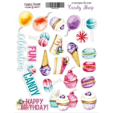 "Kit of stickers #018, ""Candy Shop"""