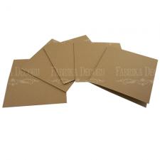 5 õnnitluskaardi toorikut 15х15cm Kraft