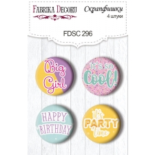 Flair buttons. Set of 4pcs #296