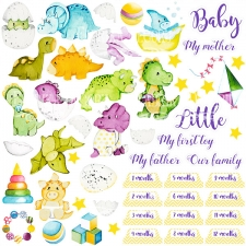"Decorative sheet for cutting ""Dino baby"""