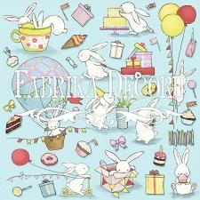 """Лист с картинками для вырезания """"Bunny Birthday Party"""""""
