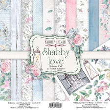 "Double-sided scrapbooking paper set ""Shabby Love"", 8""x 8"""
