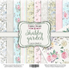 "Double-sided scrapbooking paper set ""Shabby Garden"", 8""x 8"" , Fabrika Decoru"