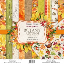 "Double-sided scrapbooking paper set ""Botany Autumn Redesign"", 8""x 8"", Fabrika Decoru"