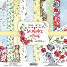 "Double-sided scrapbooking paper set ""Summer Mood"", 8""x 8"", Fabrika Decoru"