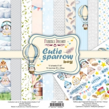 "Double-sided scrapbooking paper set ""Cutie Sparrow Boy"", 8""x 8"""