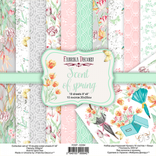 "Double-sided scrapbooking paper set ""Scent of spring"", 8""x8"", Fabrika Decoru"