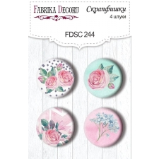 "Flair buttons. Set of 4pcs #244 ""Mysterious Garden"""