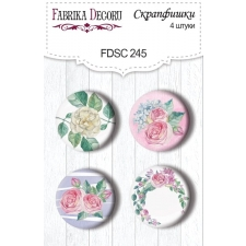 "Flair buttons. Set of 4pcs #245 ""Mysterious Garden"""