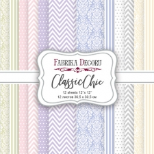 "Double-sided scrapbooking paper set ""Classic Chic"", 12""x 12"" , Fabrika Deсoru"