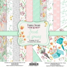 "Double-sided scrapbooking paper set ""Scent of Spring"", 12""x12"""