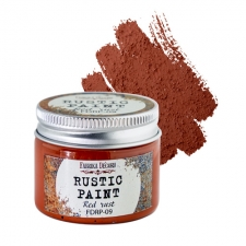 Rustic paint. Color Red rust