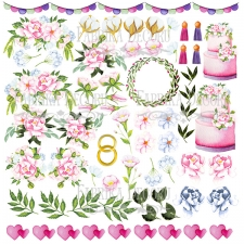 "Decorative sheet for cutting ""Wedding of Our Dream"""