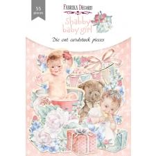 "Set of die cuts ""Shabby Baby Girl"", 55 pcs"