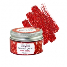 Shimmer paint. Color Red poppy