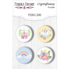 Flair buttons. Set of 4pcs #200