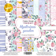 "Double-sided scrapbooking paper set ""Mysterious garden"", 12""x 12"" , Fabrika Decoru"