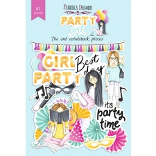 "Set of die cuts ""Party Girl"", 61 pcs"