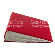 "Blank album with a soft fabric cover ""Red"""
