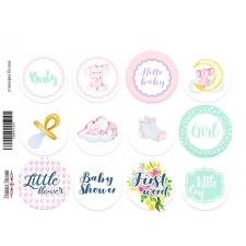 "Journal stickers #1-015, ""Little Elephant"""