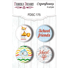 Flair buttons. Set of 4pcs #175