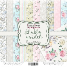 "Double-sided scrapbooking paper set ""Shabby Garden"", 12""x 12"" , Fabrika Decoru"