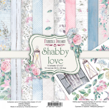 "Double-sided scrapbooking paper set ""Shabby Love"", 12""x 12"", Fabrika Decoru"