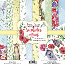 "Double-sided scrapbooking paper set ""Summer Mood"", 12""x 12"", Fabrika Decoru"