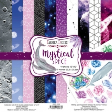 "Double-sided scrapbooking paper set ""Mystical Space"", 12""x 12"", Fabrika Decoru"