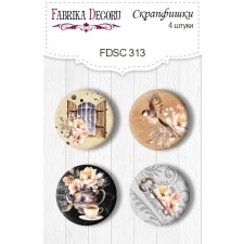 Flair buttons.  Set of 4pcs #313