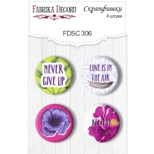 Flair buttons. Set of 4pcs #306