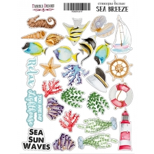 "Kit of stickers #017, ""Sea Breeze"""