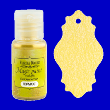 "Dry paint ""Magic paint with effect"" color ""Golden lemon"", 15ml"