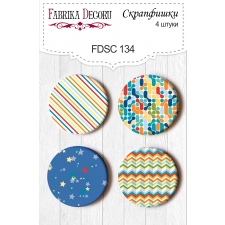 Flair buttons. Set of 4pcs #134