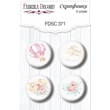 "Flair buttons. Set of 4pcs #371 ""Dreamy Baby Girl"""