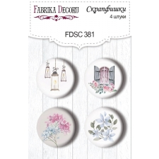 "Flair buttons. Set of 4pcs #381 ""Shabby Love"""