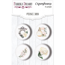 "Flair buttons. Set of 4pcs #389 ""Tenderness and Love"""