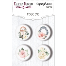 "Flair buttons. Set of 4pcs #390 ""Tenderness and Love"""