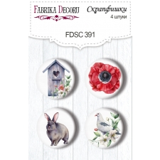 "Flair buttons. Set of 4pcs #391 ""Summer Mood"""