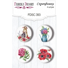 "Flair buttons. Set of 4pcs #393 ""Summer Mood"""