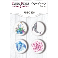 "Flair buttons. Set of 4pcs #395 ""Mystical Space"""
